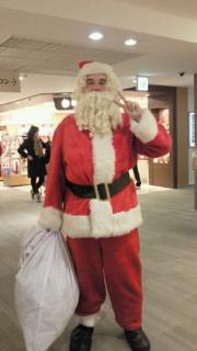 サンタさんに遭遇!