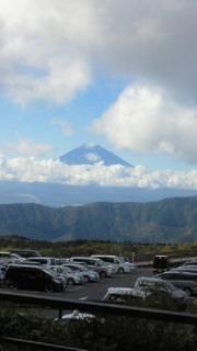 富士山見えました